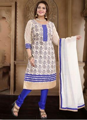 Blue Ceremonial Churidar Salwar Suit