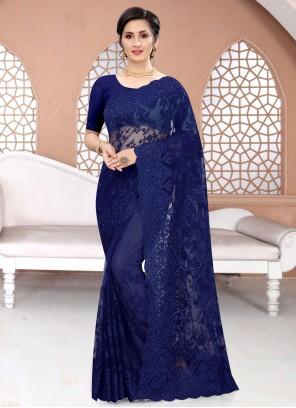 Blue Ceremonial Classic Saree