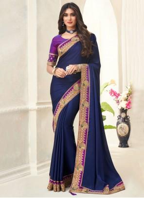 Blue Ceremonial Contemporary Saree