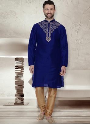 Blue Ceremonial Kurta Pyjama