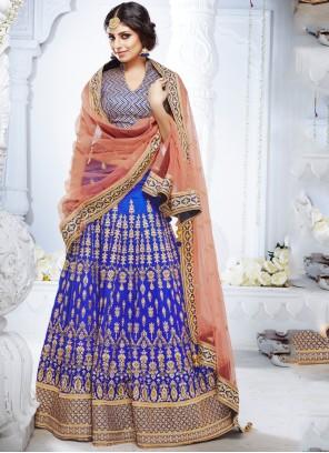 Blue Ceremonial Lehenga Choli