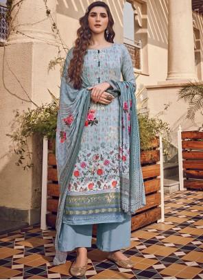 Blue Color Designer Pakistani Suit