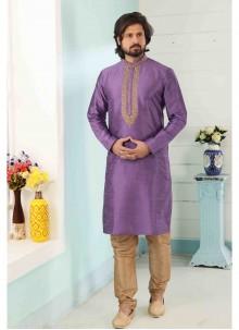 Lavender Color Kurta Pyjama