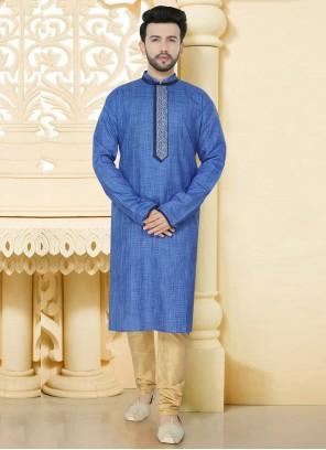 Blue Color Kurta Pyjama