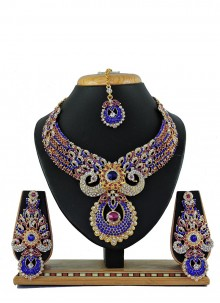 Blue Color Necklace Set