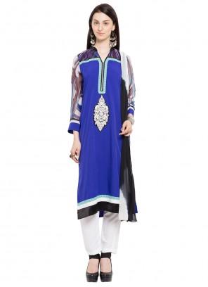 Blue Color Readymade Salwar Kameez