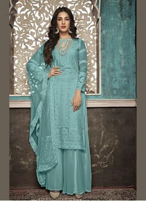 Blue Color Salwar Suit