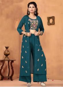 Blue Color Trendy Salwar Kameez
