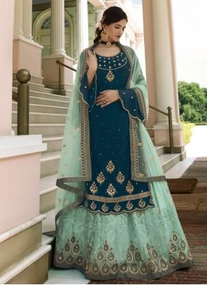 Blue Designer Long Lehenga Choli