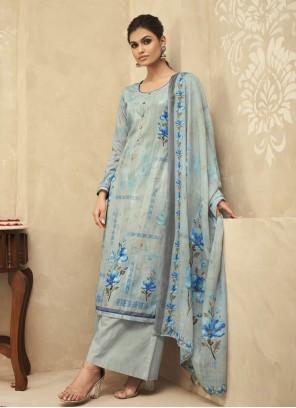 Blue Designer Palazzo Salwar Kameez