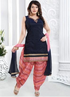 Blue Designer Patiala Suit