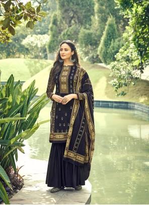 Blue Digital Print Designer Pakistani Salwar Suit