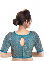 Blue Embroidered Designer Blouse