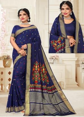 Blue Engagement Designer Traditional Saree