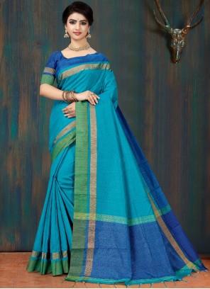 Blue Fancy Classic Saree