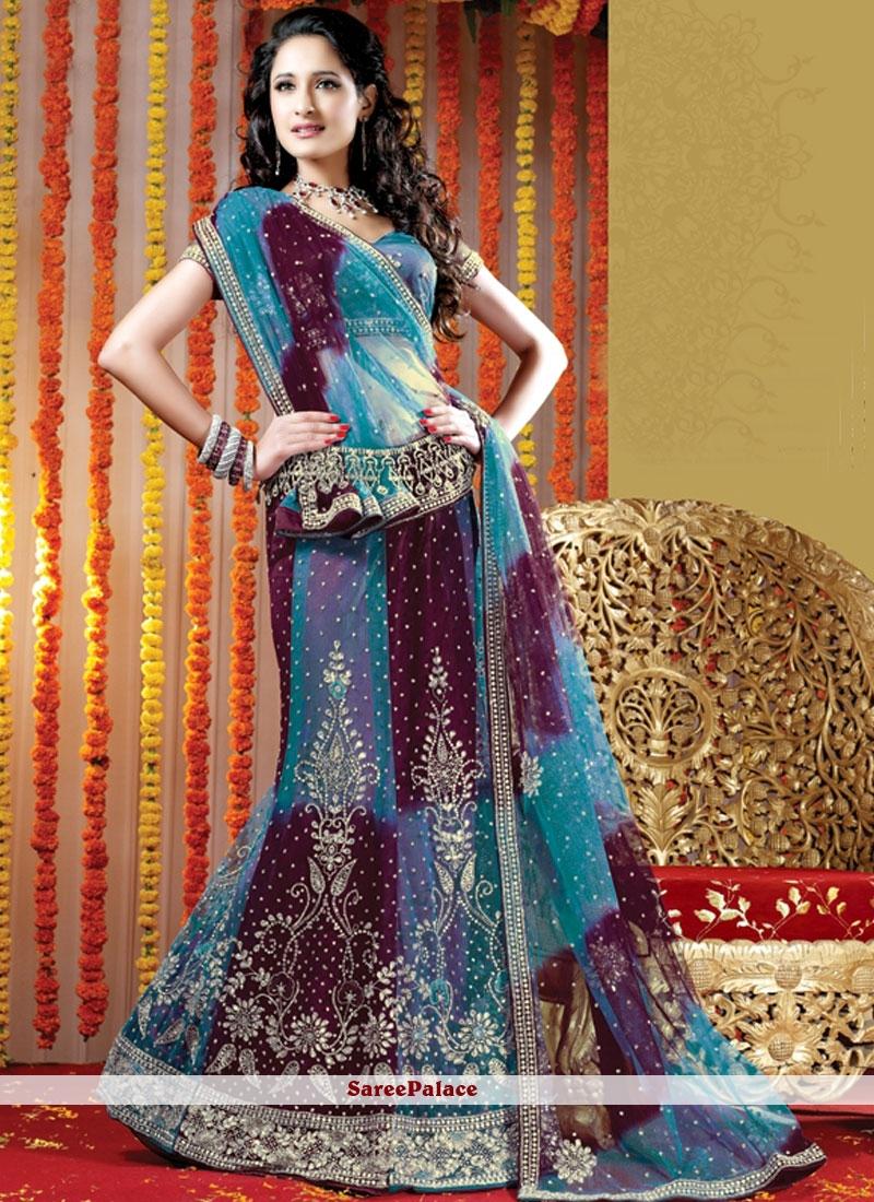Blue Fancy Lehenga Choli