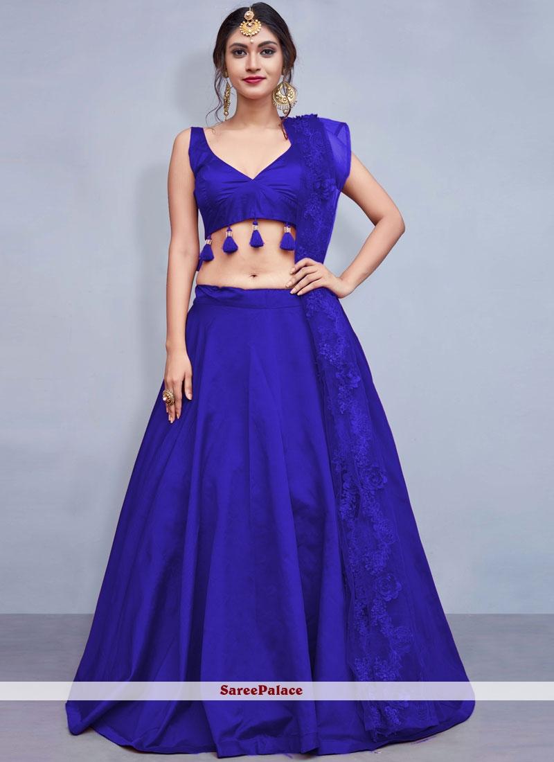 Blue Fancy Readymade Lehenga Choli