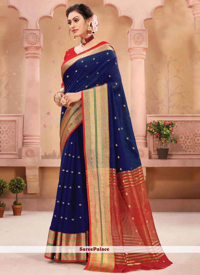 Blue Fancy Traditional Designer Saree