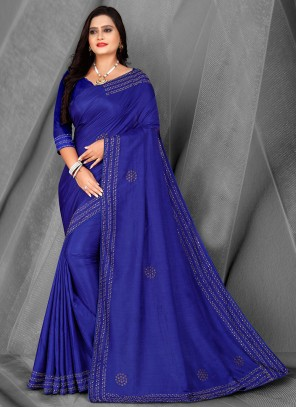 Blue Fancy Traditional Saree