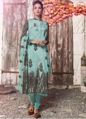 Blue Festival Designer Pakistani Suit