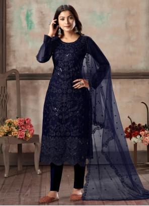 Blue Festival Designer Salwar Suit