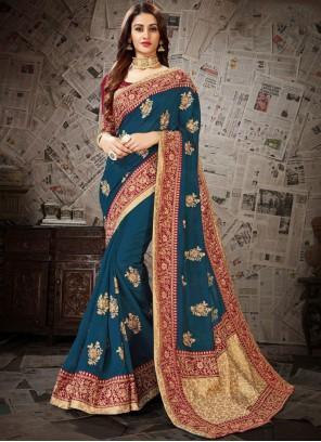 Blue Festival Designer Saree