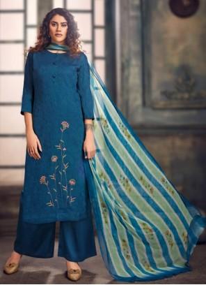Blue Festival Palazzo Salwar Suit