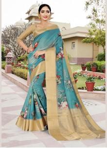Blue Festival Silk Classic Saree