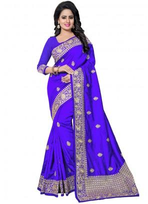 Blue Festival Traditional Saree