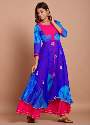 Blue Festival Trendy Gown