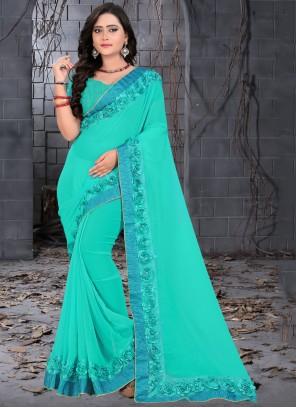 Blue Festival Trendy Saree