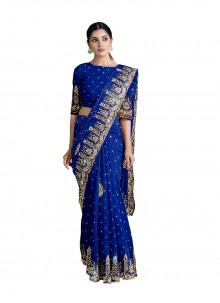 Blue Georgette Designer Saree
