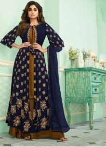 Blue Georgette Party Salwar Kameez