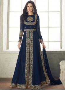 Blue Georgette Wedding Designer Salwar Kameez