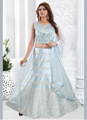 Blue Mehndi Readymade Lehenga Choli