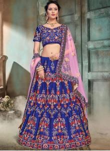 Blue Mehndi Trendy Lehenga Choli