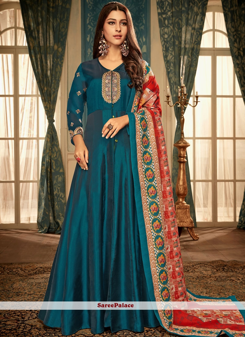 Blue Party Readymade Gown