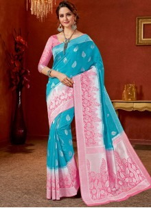 Blue Party Traditional Saree