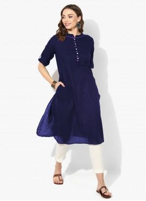 Blue Plain Designer Kurti