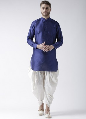 Blue Plain Dhoti Kurta