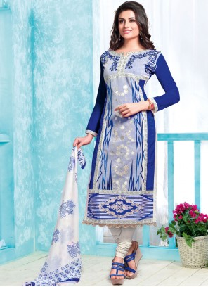 Blue Print Churidar Suit
