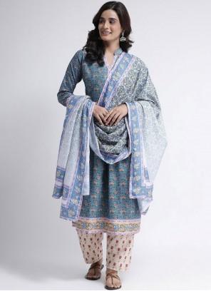 Blue Print Readymade Suit