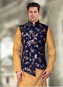 Blue Rayon Nehru Jackets