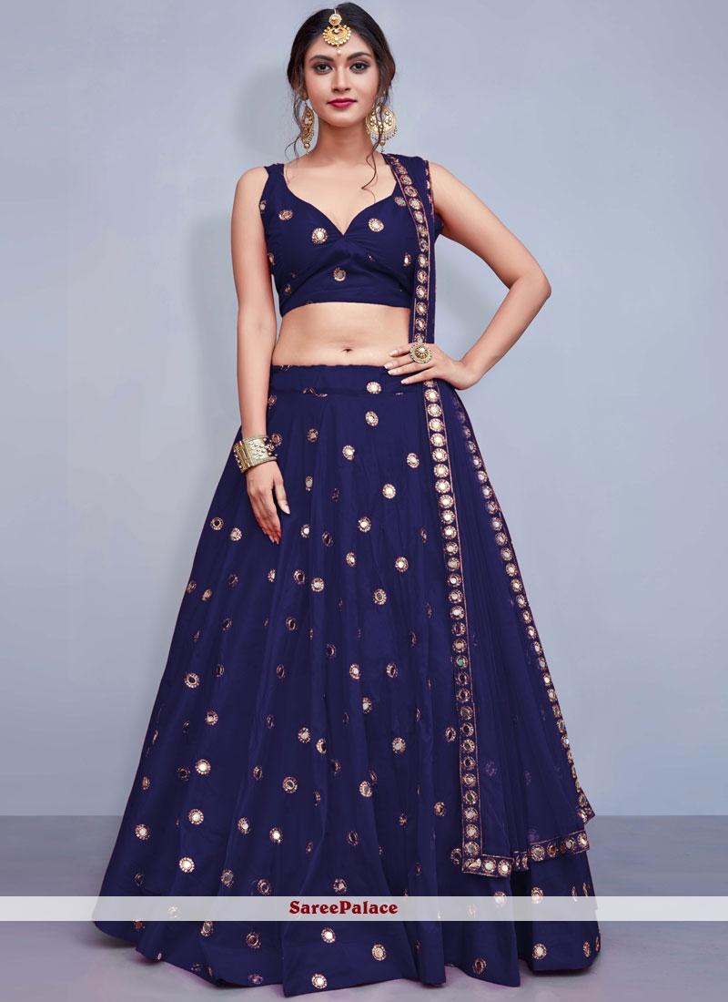 Blue Readymade Lehenga Choli
