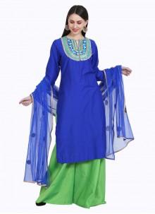 Blue Readymade Salwar Kameez