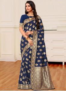 Blue Reception Classic Designer Saree
