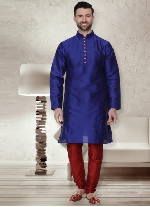 Blue Reception Kurta Pyjama