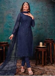 Blue Sangeet Churidar Designer Suit