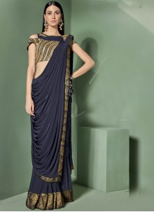 Blue Sangeet Designer Saree