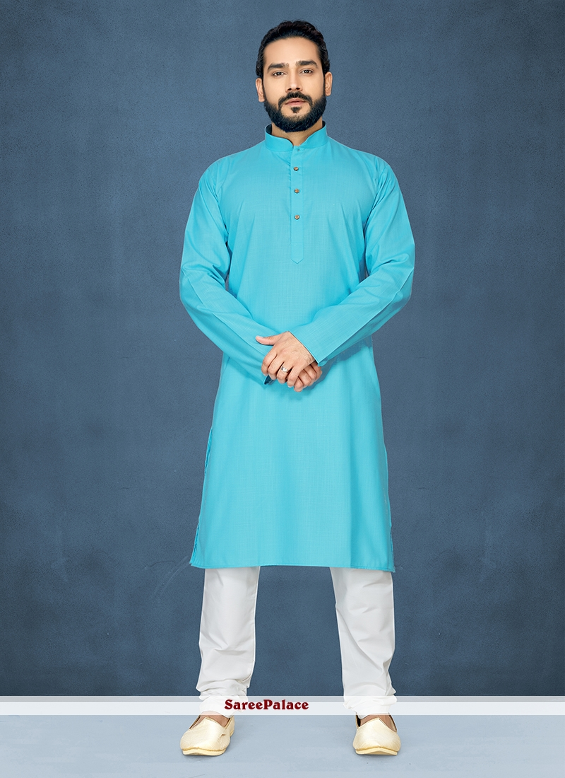 Blue Sangeet Kurta Pyjama